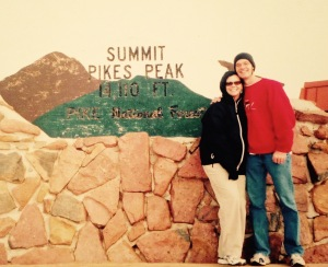 At Pike's Peak in Colorado